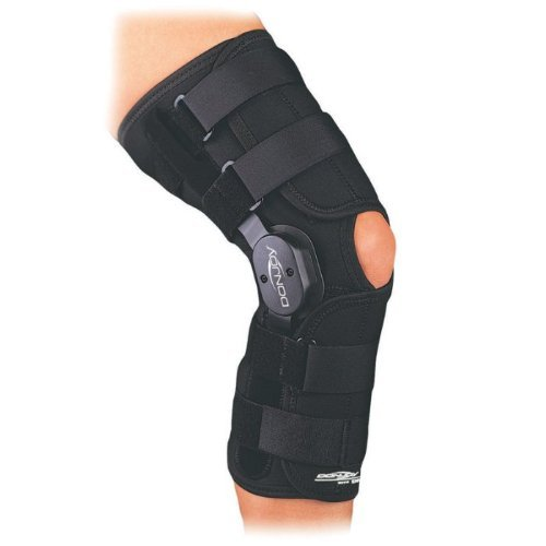 DonJoy Playmaker Drytex Knee Brace (Large Wraparound Open Back No Patella Donut)