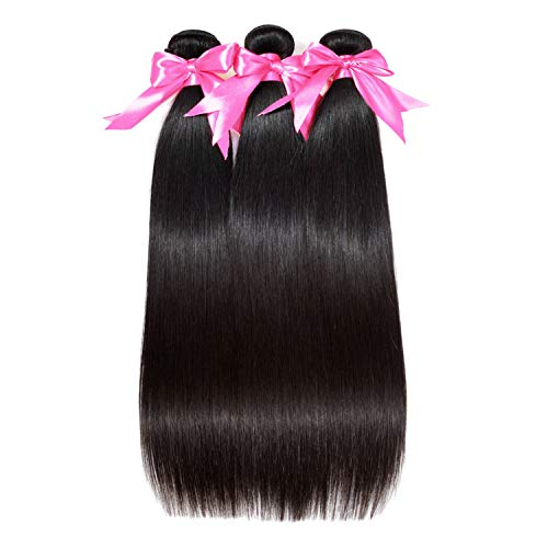 Better With You HAIR Brazilian Straight Hair Extensions 100% Remy Hair Weave Bundles Nature Color 3 Bundles Human Hair Bundles Nature Color,Natural Color,20 20 22