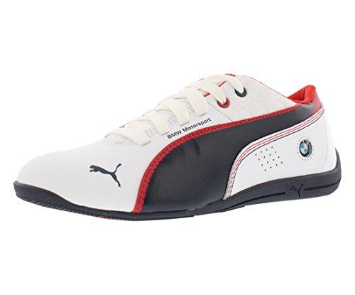 PUMA Drift Cat 6 L BMV JR Sneaker (Little Kid/Big Kid), White/Team Blue, 6.5 M US Big Kid ()