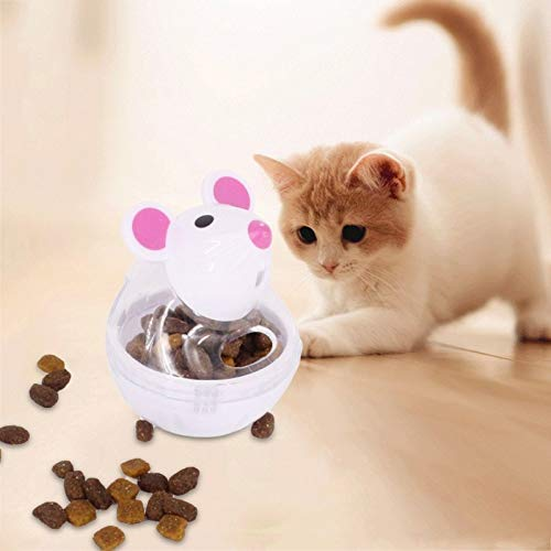 Cat Toys - Pet Toys Food Dispenser Feeder Dogs Cats Tumbler Funny Container Plastic Supply - Natural Treats Puff Butterfly Grass Interactive Pink Glass Sale Move Item Toddlers Unique Assorted H