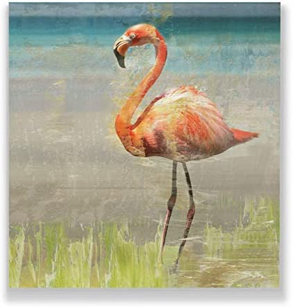 WEXFORD HOME Flamingo Fancy II Gallery Wrapped Canvas Wall Art