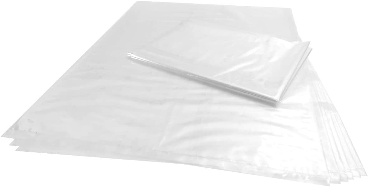 Wowfit 100 CT 10x15 inches 1 Mil Clear Plastic Flat Open Poly Bags Great for Food, Storage, Packaging and More (10 x 15 inches)