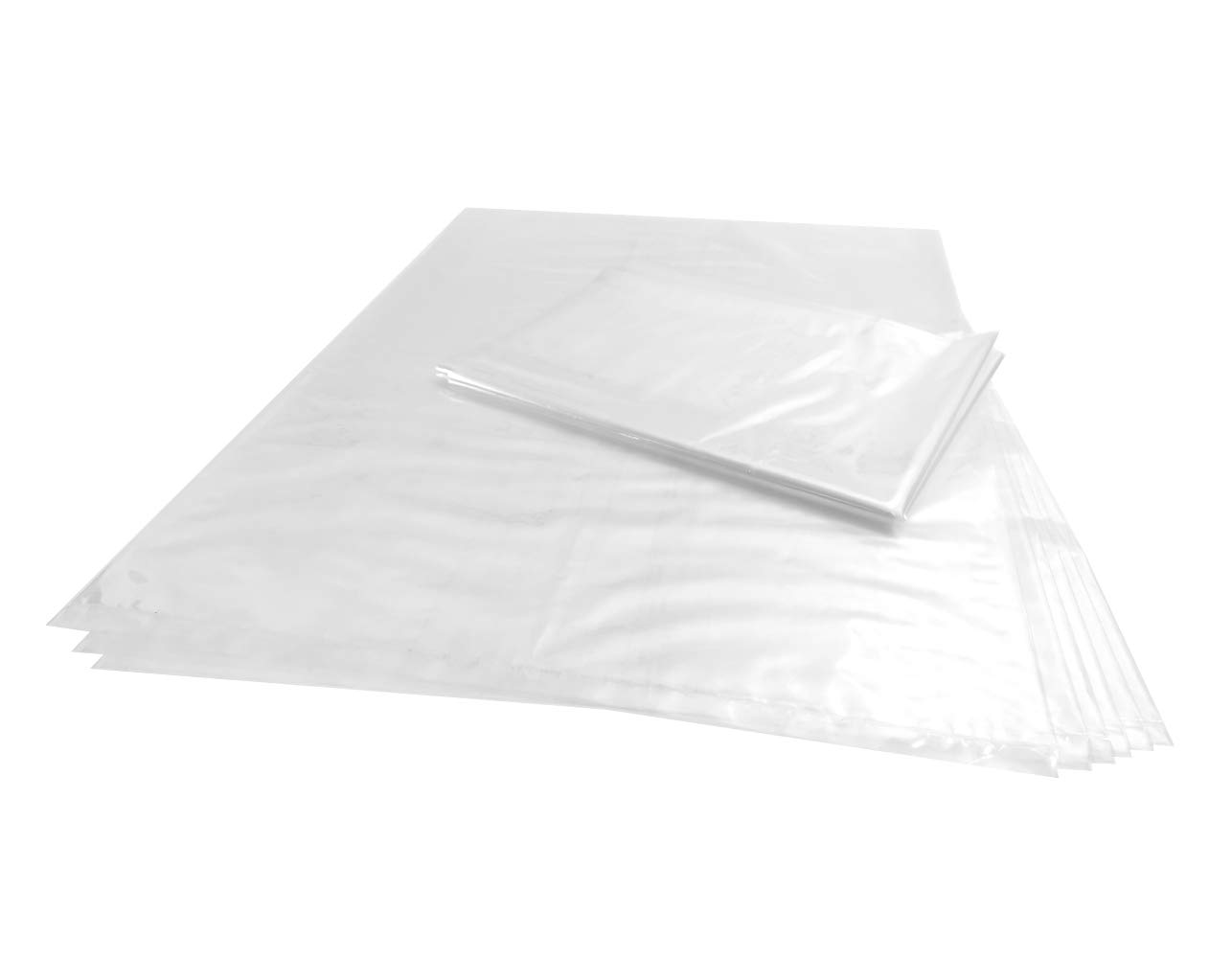 Wowfit 100 CT 18x24 inches 1 Mil Clear Plastic Flat Open Poly Bags Great for Proving Bread, Dough, Storage, Packaging and More (18 x 24 inches)