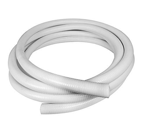 Sun2Solar 1.5 Inch Diameter x 50 Feet Length Flexible PVC Hose | Flexible Pipe White Schedule 40 PVC | Perfect for Plumbing Filtration Systems