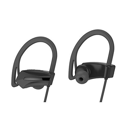 Gederq 2018マイクトゥルーステレオノイズキャンセリングヘッドフォンを実行するための新しいジョガーのBluetoothヘッドセットIPX7防水イヤホン B07D8NKVX2