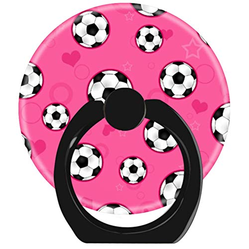 - YhouqukehTshirt Cell Phone Finger Ring Holder Stand Car Mount Works for Smartphone and Tablet-Cute Pink Soccer Star Print