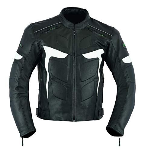 RIDEX Mens LJ2W Biker Motorbike Motorcycle Protection Leather Jacket (Large)