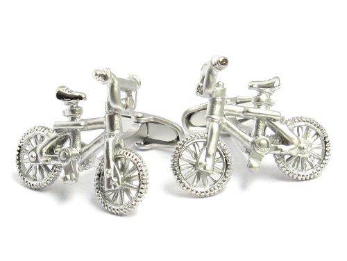 BMX Bike Cufflinks By Jewelry Mountain by Jewelry Mountain