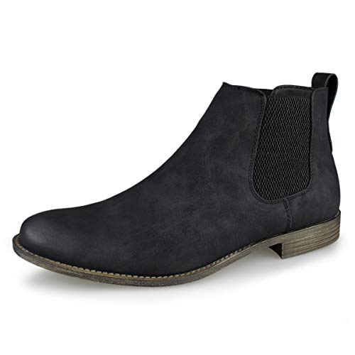 Hawkwell Men's Formal Dress Casual Ankle Chelsea Boot, Black Manmade, 10 M US from Hawkwell