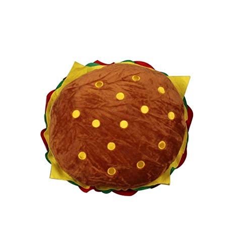 Children's Plush Pillows Cushion Cheeseburger Hamburger Shape Cartoon Super Soft Personality Sofa Pillow Halloween -