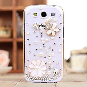 SHOUJIKE Diamond Pearl Petal Back Cover Case for Samsung Galaxy S3 I9300