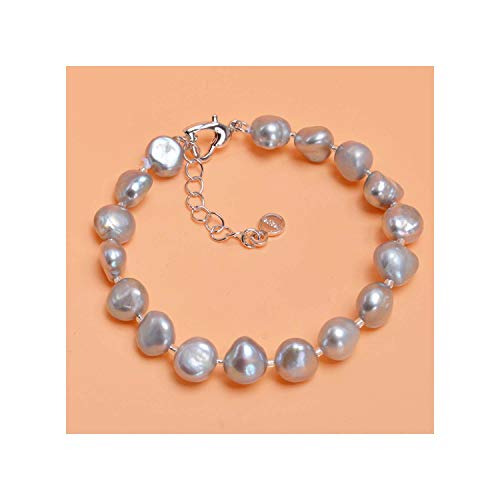 Honora Black Bracelet - Prosperous-Blooming Genuine Baroque Pearl Bracelets Bangles Black Gray 9-10mm Charm Jewelry