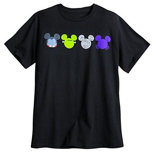 Disney Mickey Mouse Icon Halloween Tee for Men Size MENS XL Black]()