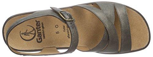 Ganter Weite G Offene Grau Damen 6500 Metall MONICA Sandalen 5rfwSTa5q