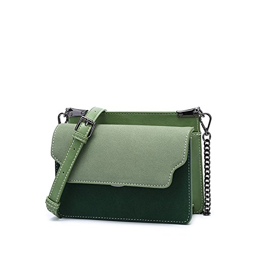 Square Bag Color 15Cm The Satchel amp;QIUMEI Single OME Shoulder 21 8 Bag green Bump Female xY8f10Wqw