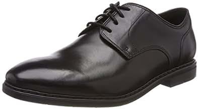 Clarks Erkek Derby Ayakkabı Banbury Lace, Siyah, 40