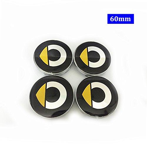 Emblem Badge Wheel Hub Caps Centre Cover SMART Fortwo Forfour Roadster Forjeremy Forspeed Forstars For-us ()