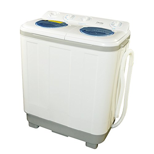 New Version Panda Small Compact Portable Washing Machine (15 lbs Capacity) with Spin Dryer -Larger Size, Built in Pump (Washers Dryer Set)