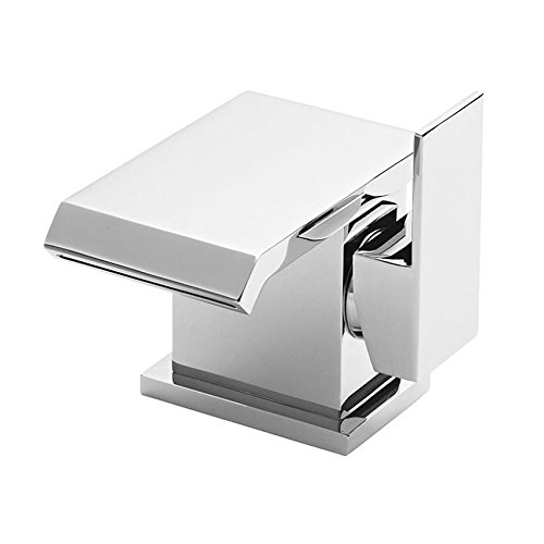DBS Wash Basin Mixer Tap Luxury Waterfall Cascade Single Side Lever Square Monobloc