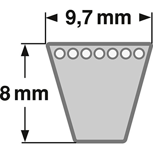 AV 10 x 1813 La DIN7753 V-Belt Keilriemen SPZ 1800 Lw
