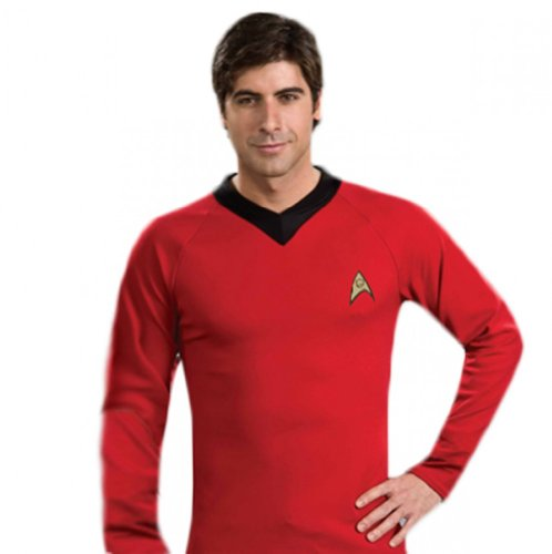 [Star Trek Unisex Classic Scotty Shirt Red XL] (Red Star Trek Dress)