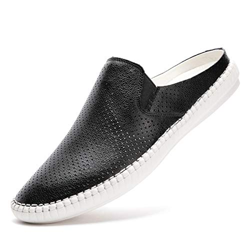 5fcb346c699e Artisure Men s Classic Handsewn Genuine Leather House Office Slippers  Fashion Comfort Slip On Casual Breathable