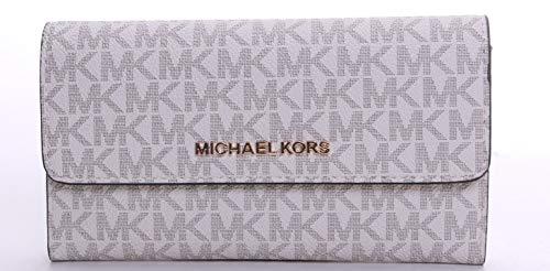 Michael Kors Women's Jet Set Travel Large Trifold Wallet No Size (Vanilla/Acrn)