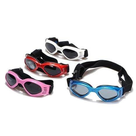 Lunettes UV solaires protection soleil pour chien Fashion ANTI RAYON Adjustable S rose SYG_FR Co. LTD