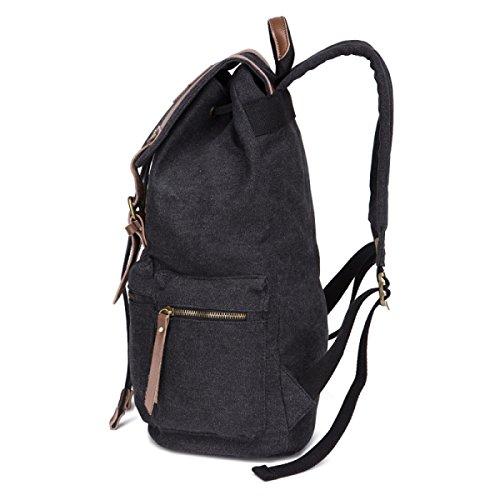 Travel Business Backpack Canvas purpose Bag Leisure Men's Laidaye Multi Black EqCTq