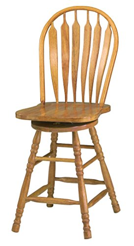 Oak Traditional Bar Stools (Sunset Trading Swivel Barstool, 30