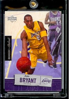 2005 06 Upper Deck Rookie Debut Kobe Bryant Los Angeles Lakers Basketball Card #42 - Mint Condition - In Protective Display Case - Debut Rookie 2005 Card