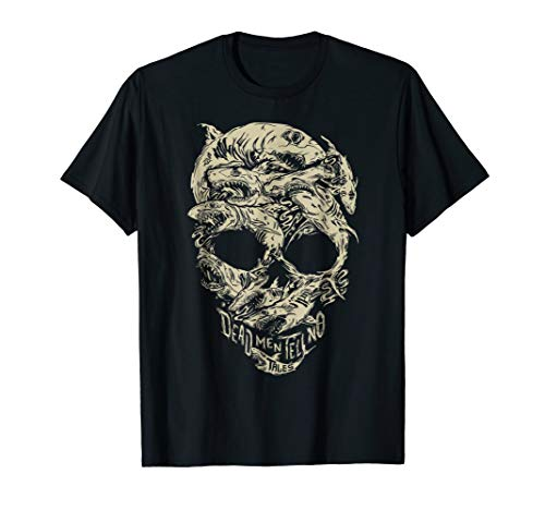 Disney Pirates Shark Skull T-Shirt (Pirate Skull T-shirt)
