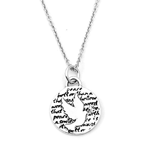 Kevin N Anna Dove (Peace) Sterling Silver Small Pendant Necklace, 18