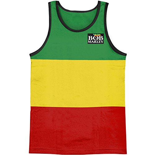 Bob Marley Men's Rasta Stripe Sleeveless Tank