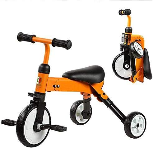FEE-ZC Bicicleta de Equilibrio Universal Plegable para Triciclo para niños Bicicleta de 18 Meses a 4 años