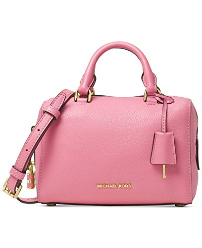 Michael Kors Kirby MEDIUM Satchel pebble leather Misty - Michael Kors Gold Bag Rose