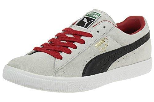 Puma Clyde Script Suede Leather Sneaker Men Trainers grey 351907 17 gray violet-black-CP