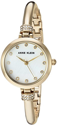 Anne Klein Women's AK/2840LBDT Swarovski Crystal Accented Gold-Tone Bangle Watch and Bracelet Set by Anne Klein (Image #2)'