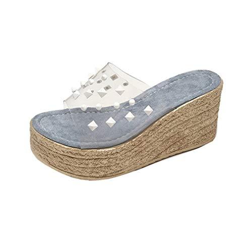 YUCH Pantoufles pour Blue YUCH pour Femme Blue YUCH Femme Pantoufles pour Pantoufles rW6HcTr