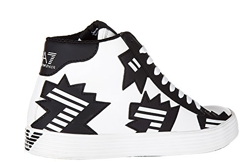 Emporio Armani EA7 chaussures baskets sneakers hautes femme pride street art bla