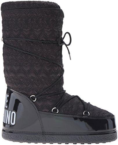 Satin Boot Love 42 41 Moschino 43 D17mo21 Donna Yeti Trapuntato Nero Snow Scarpe l tq7Exw0P