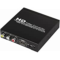Farsail FSH2C 1080P HDMI to RCA CVBS Composite Video Audio Converter and HDMI Auto Scaler with PAL/NTSC and Zoom Function