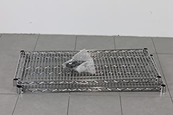 chrom regal boden 2 stk fachboden für stahldraht-gitterregal ... - Gitterregal Küche