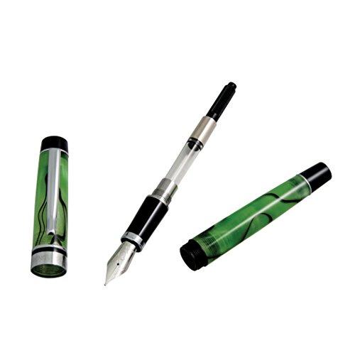 Monteverde Prima Fountain Pen Green Swirl Fine Nib (MV26889F) Photo #6