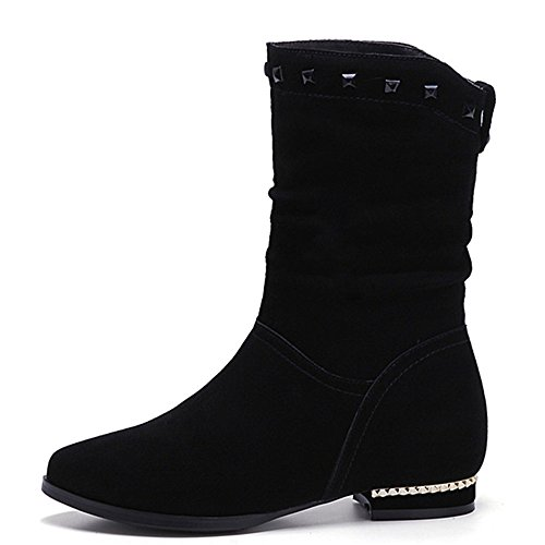negro Botas Nine SevenMid Boot Calf mujer wC81Sq