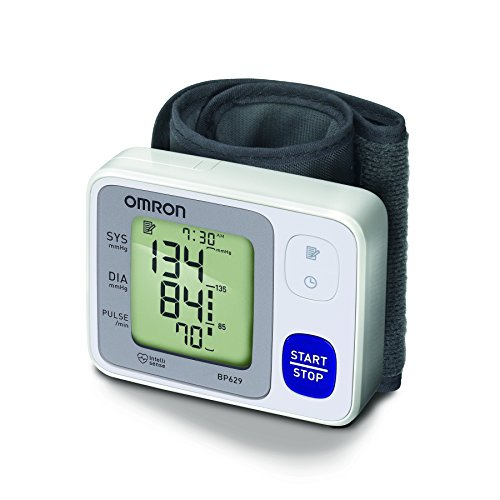 Omron 3 Series Wrist Blood Pressure Monitor (60 Reading (Omron Heart Rate Monitor)