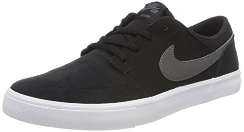 Solar Men's 8 Men White Grey Portmore Shoe Dark II Black Skate Nike US SB dIZwI1