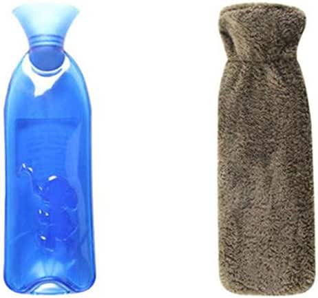 Safe PVC Hot Water Bottle with Cover Keep Warm for Adult Or Child 1.0 Litre(Anti-scalding #04)