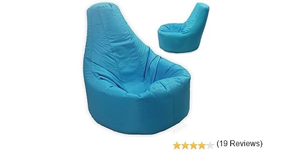 Gamer sillón reclinable y puf de tamaño grande para exteriores e interiores para videojuegos para XXL azul turquesa - asiento de silla puf (agua y ...