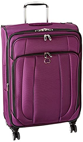 Delsey Luggage Helium Cruise 25 Inch EXP Spinner Suiter Trolley, Purple, One Size - 8 Suiter